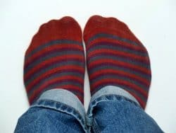 How to stop holes forming in socks